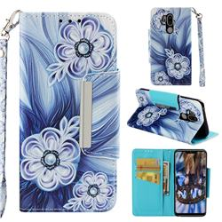 Button Flower Big Metal Buckle PU Leather Wallet Phone Case for LG G7 ThinQ