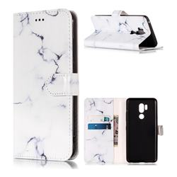 Soft White Marble PU Leather Wallet Case for LG G7 ThinQ
