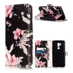 Azalea Flower PU Leather Wallet Case for LG G7 ThinQ