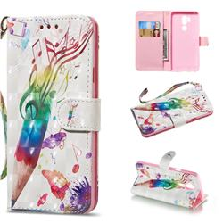 Music Pen 3D Painted Leather Wallet Phone Case for LG G7 ThinQ