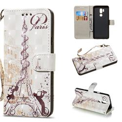 Tower Couple 3D Painted Leather Wallet Phone Case for LG G7 ThinQ