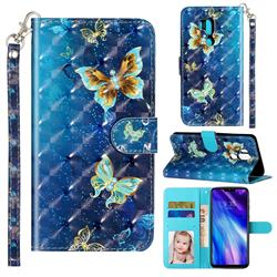 Rankine Butterfly 3D Leather Phone Holster Wallet Case for LG G7 ThinQ