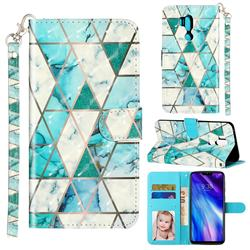 Stitching Marble 3D Leather Phone Holster Wallet Case for LG G7 ThinQ