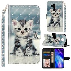 Kitten Cat 3D Leather Phone Holster Wallet Case for LG G7 ThinQ