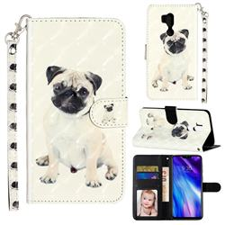 Pug Dog 3D Leather Phone Holster Wallet Case for LG G7 ThinQ