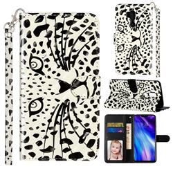 Leopard Panther 3D Leather Phone Holster Wallet Case for LG G7 ThinQ