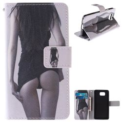 Sexy Girls PU Leather Wallet Case for Samsung Galaxy Alpha G850