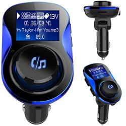 BC28 Bluetooth Wireless FM Transmitter Radio Car Kit MP3 Music Player Dual USB Receiver Hands Free - Blue