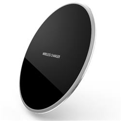 R-JUST Ultra-Thin Fast Charge Qi Wireless Charging Pad Silver