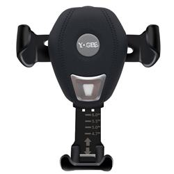 YOGEE YC702 Gravity Linkage Wireless Qi Quick Charging Car Holder - Black