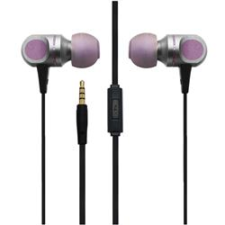UENJOY Chrome Metal Stereo Earphones Wired High Definition in-Ear Eearbuds Headphones - Lavender