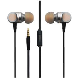 UENJOY Chrome Metal Stereo Earphones Wired High Definition in-Ear Eearbuds Headphones - Golden