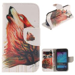 Color Wolf PU Leather Wallet Case for Samsung Galaxy J1 2015 J100