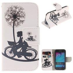 Cycling Dandelion PU Leather Wallet Case for Samsung Galaxy J1 2015 J100