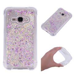Dynamic Liquid Glitter Sand Quicksand Star TPU Case for Samsung Galaxy J1 2016 J120 - Rose
