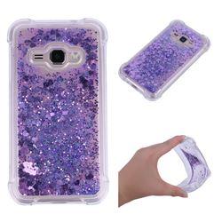Dynamic Liquid Glitter Sand Quicksand Star TPU Case for Samsung Galaxy J1 2016 J120 - Purple