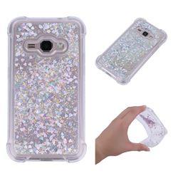 Dynamic Liquid Glitter Sand Quicksand Star TPU Case for Samsung Galaxy J1 2016 J120 - Silver