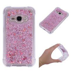 Dynamic Liquid Glitter Sand Quicksand Star TPU Case for Samsung Galaxy J1 2016 J120 - Diamond Rose