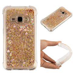 Dynamic Liquid Glitter Sand Quicksand Star TPU Case for Samsung Galaxy J1 2016 J120 - Diamond Gold