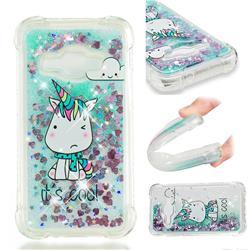 Tiny Unicorn Dynamic Liquid Glitter Sand Quicksand Star TPU Case for Samsung Galaxy J1 2016 J120