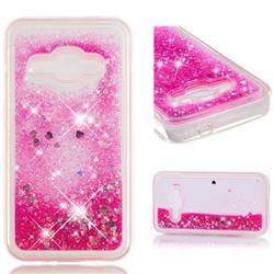Dynamic Liquid Glitter Quicksand Sequins TPU Phone Case for Samsung Galaxy J1 2016 J120 - Rose