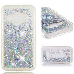 Dynamic Liquid Glitter Quicksand Sequins TPU Phone Case for Samsung Galaxy J1 2016 J120 - Silver