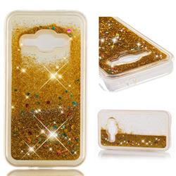 Dynamic Liquid Glitter Quicksand Sequins TPU Phone Case for Samsung Galaxy J1 2016 J120 - Golden
