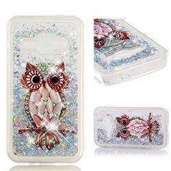 Seashell Owl Dynamic Liquid Glitter Quicksand Soft TPU Case for Samsung Galaxy J1 2016 J120