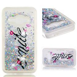 Smile Flower Dynamic Liquid Glitter Quicksand Soft TPU Case for Samsung Galaxy J1 2016 J120