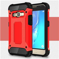 King Kong Armor Premium Shockproof Dual Layer Rugged Hard Cover for Samsung Galaxy J1 2016 J120 - Big Red