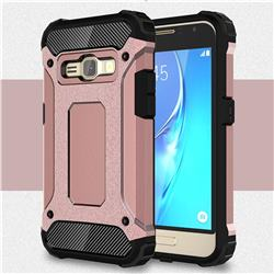 King Kong Armor Premium Shockproof Dual Layer Rugged Hard Cover for Samsung Galaxy J1 2016 J120 - Rose Gold