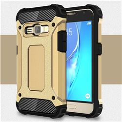 King Kong Armor Premium Shockproof Dual Layer Rugged Hard Cover for Samsung Galaxy J1 2016 J120 - Champagne Gold