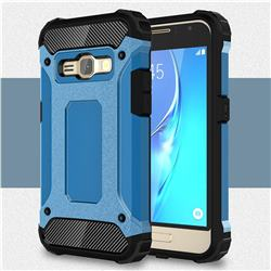 King Kong Armor Premium Shockproof Dual Layer Rugged Hard Cover for Samsung Galaxy J1 2016 J120 - Sky Blue
