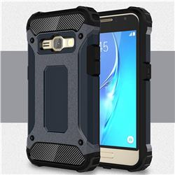 King Kong Armor Premium Shockproof Dual Layer Rugged Hard Cover for Samsung Galaxy J1 2016 J120 - Navy