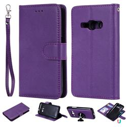 Retro Greek Detachable Magnetic PU Leather Wallet Phone Case for Samsung Galaxy J1 2016 J120 - Purple