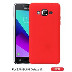 Howmak Slim Liquid Silicone Rubber Shockproof Phone Case Cover for Samsung Galaxy J2 J200 - Red