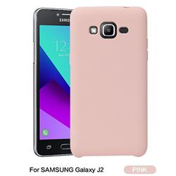 Howmak Slim Liquid Silicone Rubber Shockproof Phone Case Cover for Samsung Galaxy J2 J200 - Pink