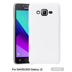 Howmak Slim Liquid Silicone Rubber Shockproof Phone Case Cover for Samsung Galaxy J2 J200 - White