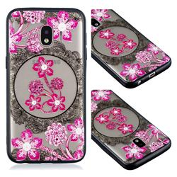 Daffodil Lace Diamond Flower Soft TPU Back Cover for Samsung Galaxy J2 Core
