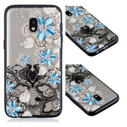 Lilac Lace Diamond Flower Soft TPU Back Cover for Samsung Galaxy J2 Core