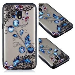 Butterfly Lace Diamond Flower Soft TPU Back Cover for Samsung Galaxy J2 Core