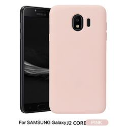 Howmak Slim Liquid Silicone Rubber Shockproof Phone Case Cover for Samsung Galaxy J2 Core - Pink