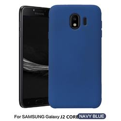 Howmak Slim Liquid Silicone Rubber Shockproof Phone Case Cover for Samsung Galaxy J2 Core - Midnight Blue