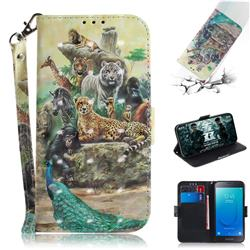Beast Zoo 3D Painted Leather Wallet Phone Case for Samsung Galaxy J2 Core
