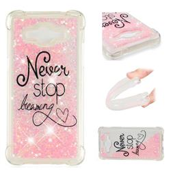 Never Stop Dreaming Dynamic Liquid Glitter Sand Quicksand Star TPU Case for Samsung Galaxy J2 Prime G532