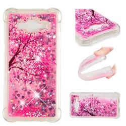Pink Cherry Blossom Dynamic Liquid Glitter Sand Quicksand Star TPU Case for Samsung Galaxy J2 Prime G532