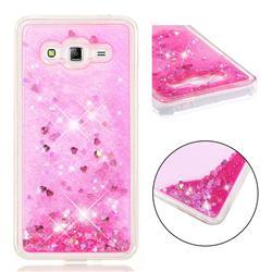Dynamic Liquid Glitter Quicksand Sequins TPU Phone Case for Samsung Galaxy J2 Prime G532 - Rose