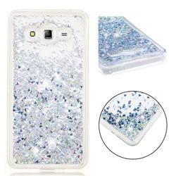Dynamic Liquid Glitter Quicksand Sequins TPU Phone Case for Samsung Galaxy J2 Prime G532 - Silver