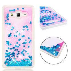 Dynamic Liquid Glitter Quicksand Sequins TPU Phone Case for Samsung Galaxy J2 Prime G532 - Blue