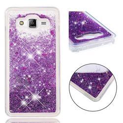 Dynamic Liquid Glitter Quicksand Sequins TPU Phone Case for Samsung Galaxy J2 Prime G532 - Purple